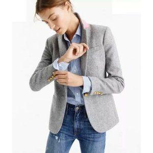 J. Crew Campbell Donegal Wool Blazer Jacket Grey